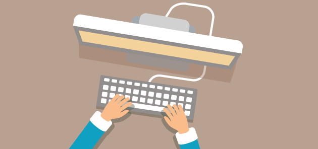 Person skriver på dator - Designed by iconicbestiary / Freepik